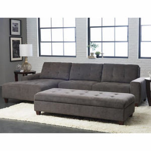 West Park Leather Sectional 1500 00 Brick And Mortar